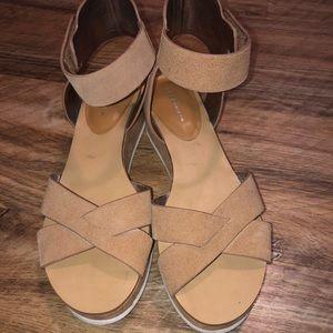 BCBG wedged sandals